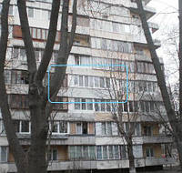 Балкон Rehau Euro 70 в Киеве купить с однокамерным стеклопакетом
