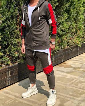 Мужской спортивный костюм коричневый, фото 2