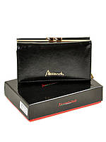 Женский кошелек Alessandro Paoli W2155 кожаный маленький с монетницей на защелке снаружи, фото 1