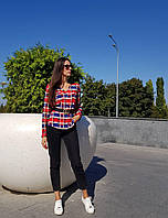 Рубашка женская в клетку , фото 1