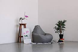Кресло-мешок груша серое 120*90 см из ткани Оксфорд