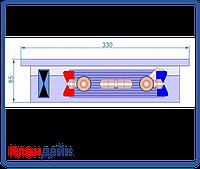 Внутрипольный конвектор Radopol KVK 8 350*1250