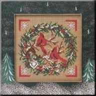 Набор для вышивки Mill Hill Cardinal Wreath (2004)