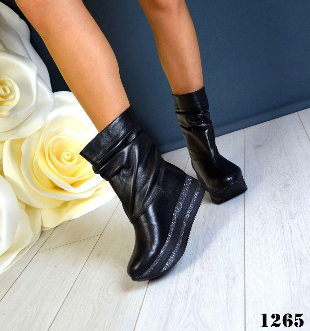 Женские демисезонные ботинки на платформе 36-40