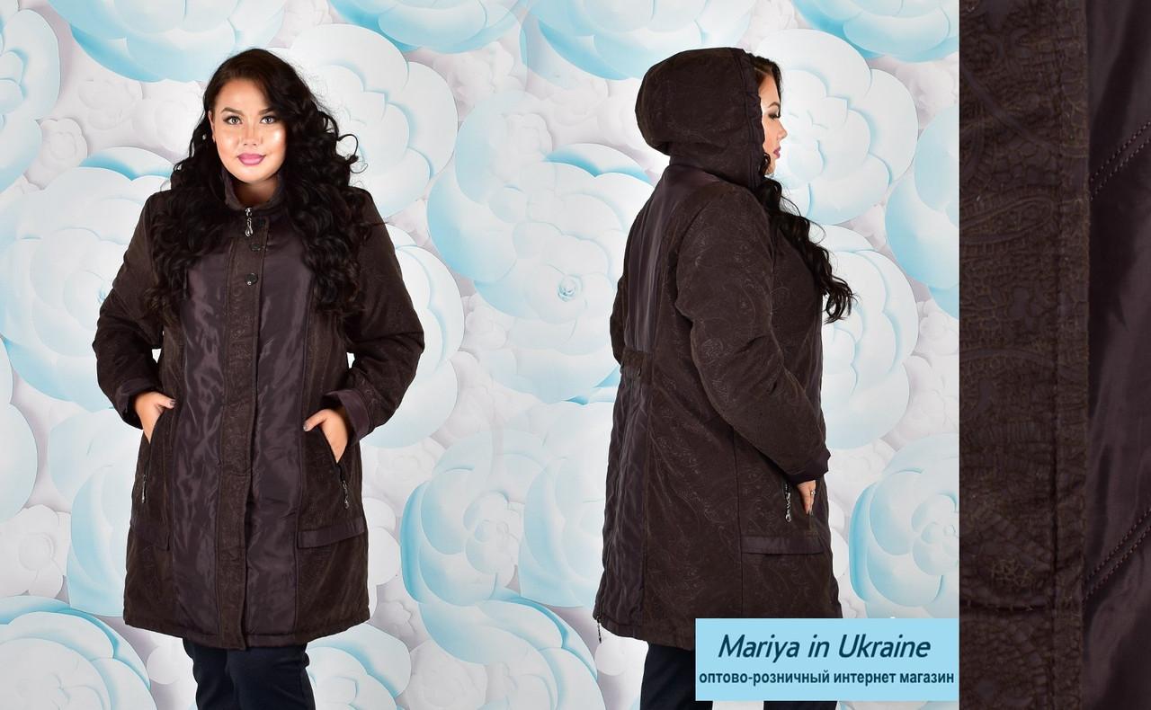 6fc1d258692 Куртка женская большие размеры от 58 до 72 Весна-осень 2018-2019 ...