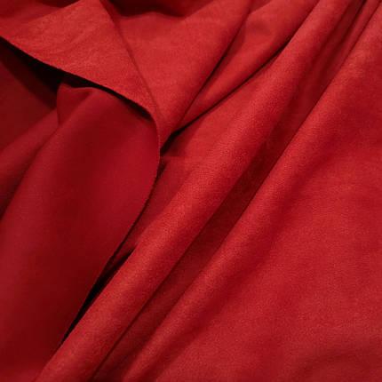 Замша стрейч на дайвинге красная, фото 2