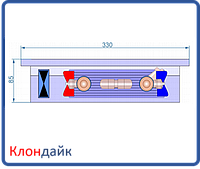 Внутрипольный конвектор Radopol KVK 8 350*1750