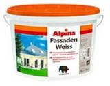 Атмосферостойкая дисперсная краска ALPINA Fassadenweiss B3 - 9,4 л