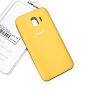 Cиликоновый чехол на Samsung J4 J400 2018 Soft-touch Yellow