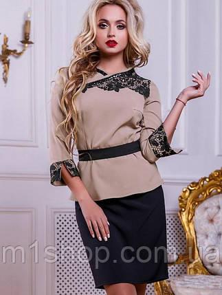 Женский юбочный костюм с ажурной вышивкой (2507 svt), фото 2