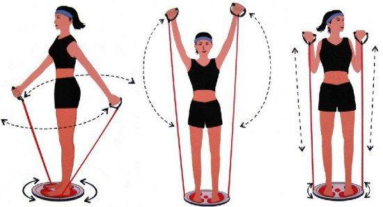 Виды упражнений с диском здоровья Грация