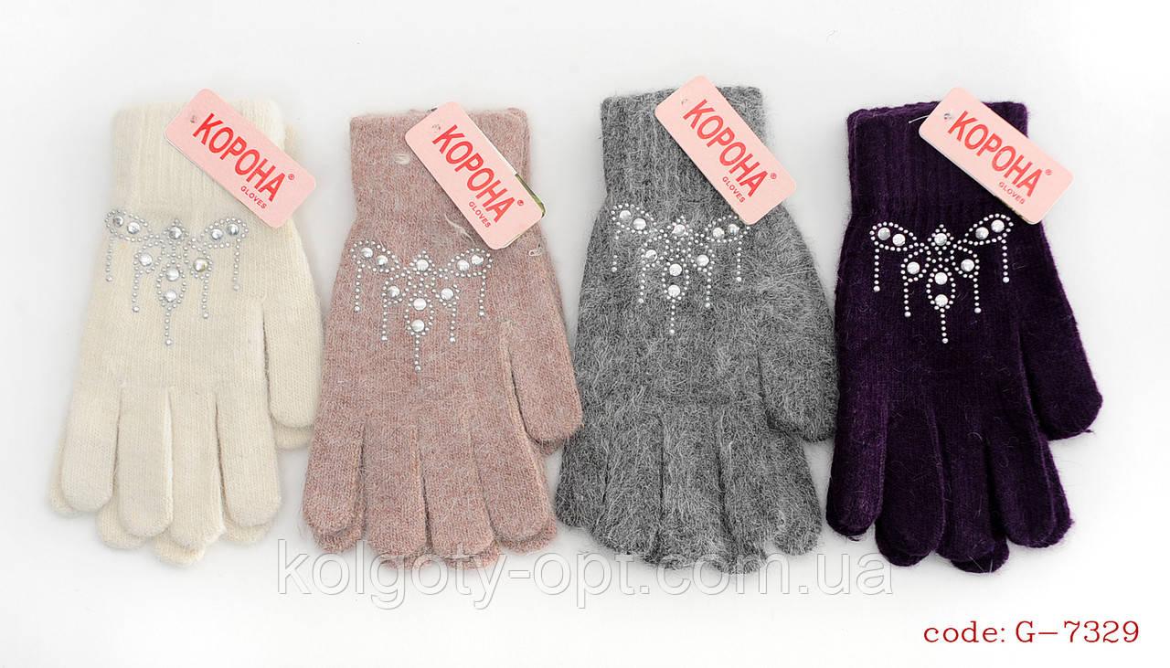Перчатки ангора женские (продаются только от 12 пар)