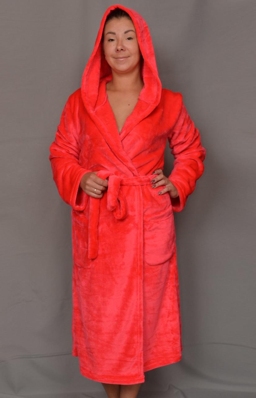 d3ddeeb1a1c0 Длинный махровый халат женский на поясе теплый домашний зимний велсофт  мягкий с капюшоном , цена 660 грн., купить в Вышгороде — Prom.ua  (ID#595274578)