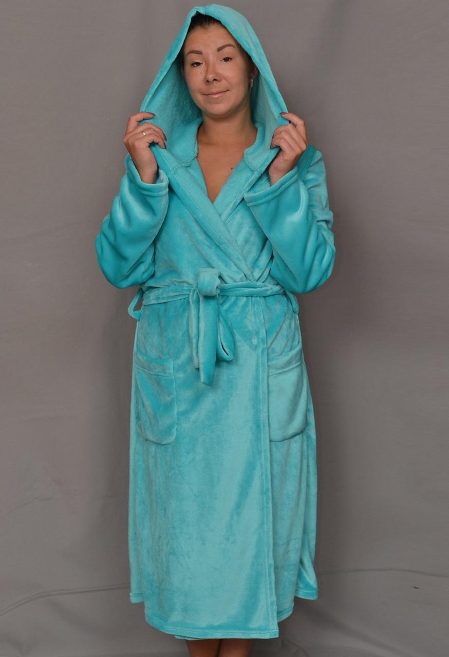 fda6718466b5 Длинный махровый халат женский на поясе теплый домашний зимний велсофт  мягкий с капюшоном , цена 660 грн., купить в Вышгороде — Prom.ua  (ID#595274776)