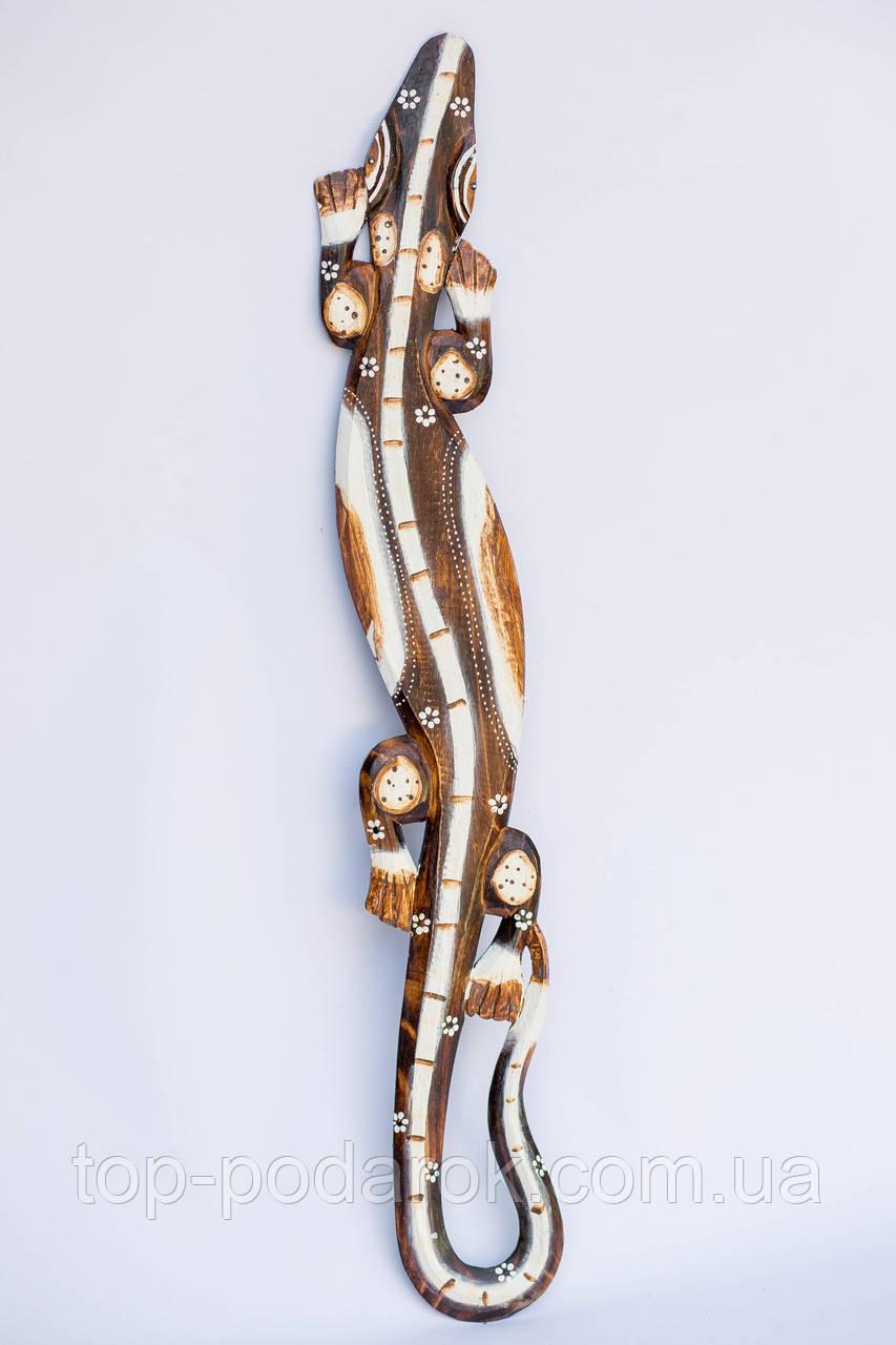 Варан деревянный настенный длина 100 см