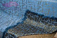 Полуторное покрывало Бамбук 150х200. Цвет-синий