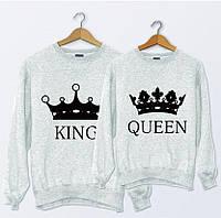 Парные свитшоты. Регланы King and Queen. Король и королева