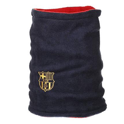 Двусторонний горловик (утепленный) Барселона синий / Месси красный, фото 2