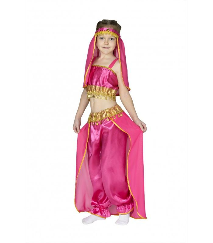 16b97ef82998 Детский карнавальный костюм принцессы Жасмин, восточной красавицы малина -  Интернет-магазин