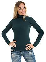 Женская водолазка (гольф) из полушерсти Irvik VH10-404 темно зеленый, фото 1