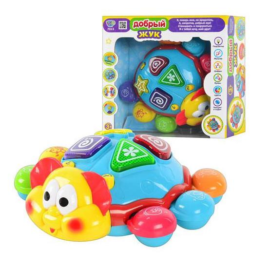 Гра дитяча  7013 UA Жучок, рухається, музичний, світло, на батарейках, в коробці, 25 см
