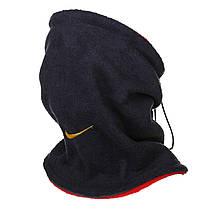 Двусторонний горловик (утепленный) Nike т. сине - красный, фото 3