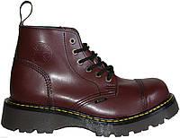 Бордовые средние мужские ботинки Steel на 6 дырок 127-128/CL/FULL BURGUND