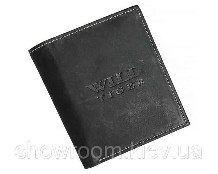 Портмоне мужское Wild Tiger (037) кожаное черное
