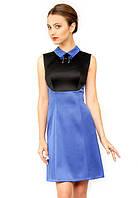Короткое атласное платье женское