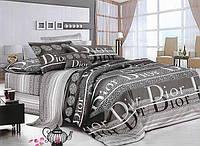 Двоспальний постільний комплект - Діор сірий