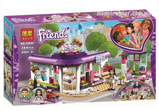 """Конструктор Bela 10856 """"Арт-кафе Эммы"""" Френдс, 384 детали. Аналог Lego Friends 41336"""