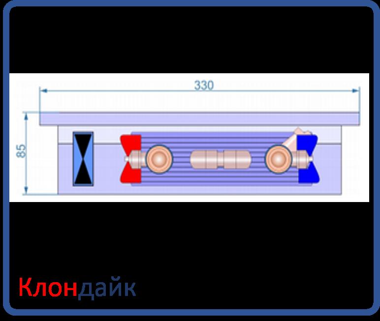 Внутрипольный конвектор Radopol KVK 8 350*4500