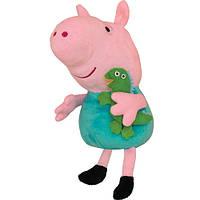 Мягкая игрушка Peppa - Джордж с игрушкой (30 см)