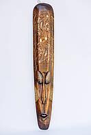 Маска настенная деревянная длина 100 см