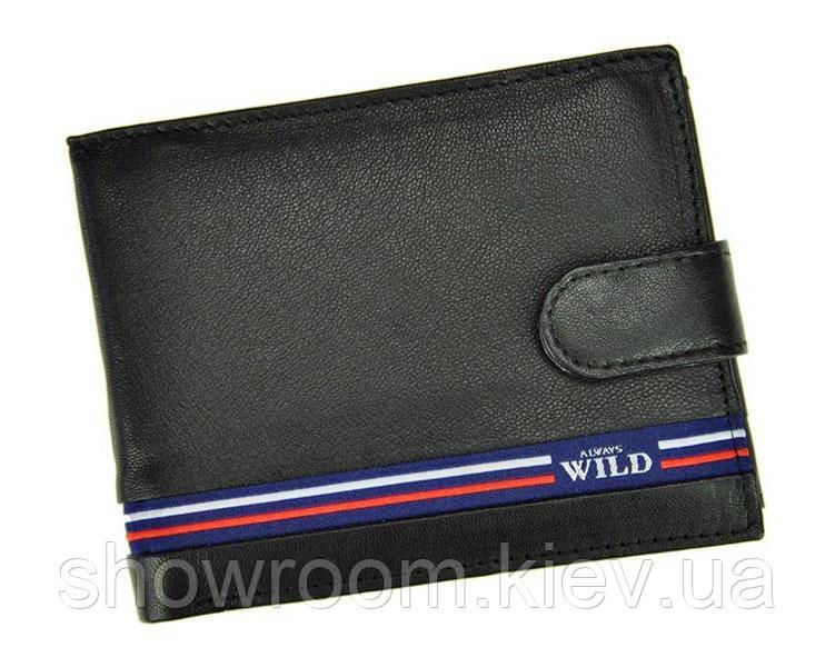 Портмоне мужское Always Wild (N992L-GV) кожаное черное