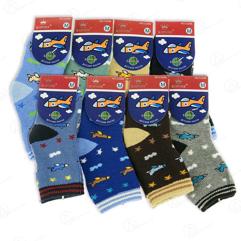 Носки детские оптом для мальчика махровые Корона C3208-2
