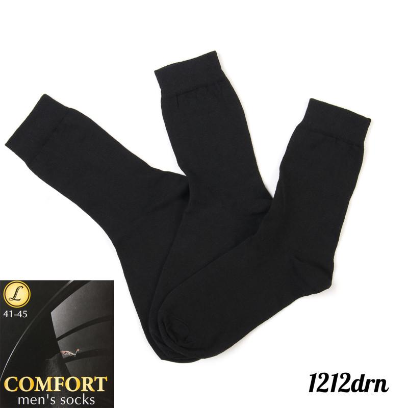 Мужские черные носки 41-45 Comfort (Украина) 1212drn
