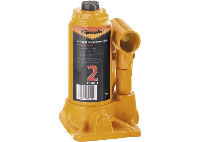 Домкрат гідравлічний пляшковий, 16 т, h підйому 220-420 мм// SPARTA