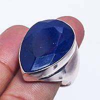 Кольцо с камнем сапфир в серебре. Кольцо с сапфиром - Индия!, фото 1