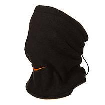 Двусторонний горловик (утепленный) Nike черно-оранжевый, фото 2