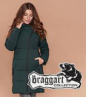 Куртка зимняя женская темно-зеленая, фото 1