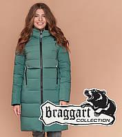 Braggart Длинная женская куртка зеленая, фото 1