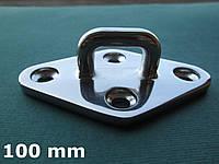 Нержавеющий обух палубный на ромбовидном основании, 100х62 мм