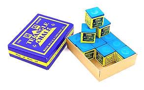 Мел для бильярда TRIANGEL KS-1930 (синий, цена за 1шт) дубл., в упаковке 12шт.