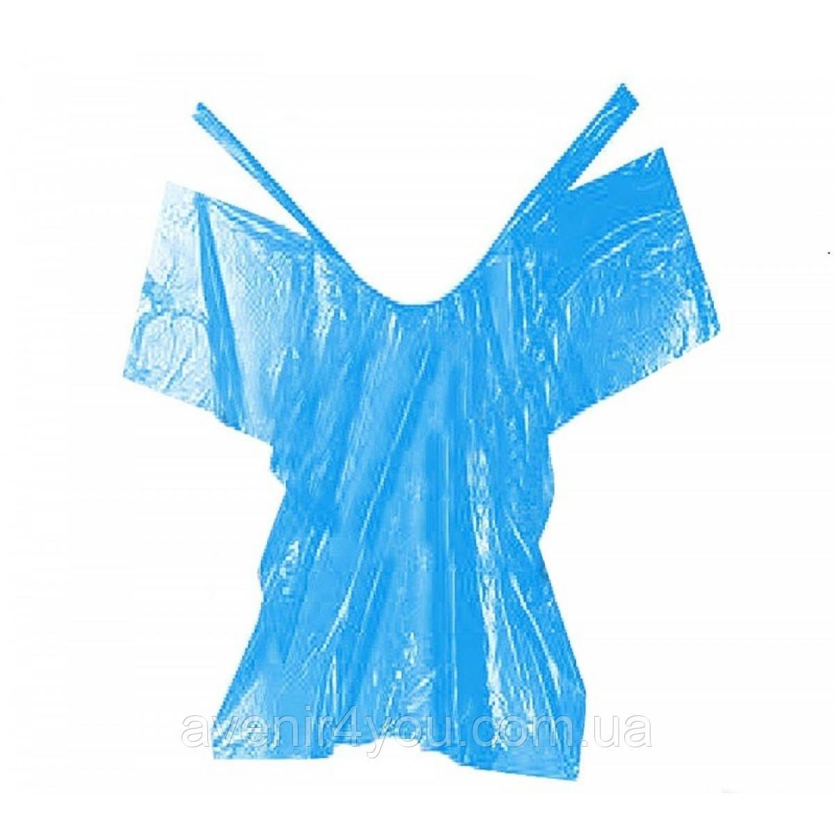Пеньюар одноразовый голубой (10 шт.)