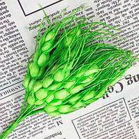 Искусственные колоски пшеницы (цена за букет 10 колосков) Цвет - Салатовый
