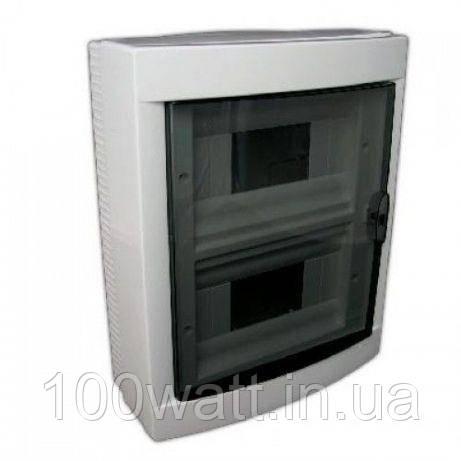 Щиток HOROZ ELECTRIC на 16 автоматов наружной установки белый