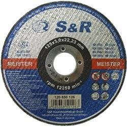 Круг відрізний по металу S&R Meister типу A 30 S BF 125x2