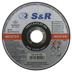 Круг відрізний по нержавіючої сталі S&R Meister типу A46R-BF 125х1