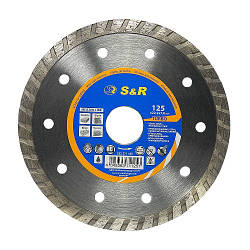 Диск отрезной алмазный S&R Meister по бетону 125 мм.